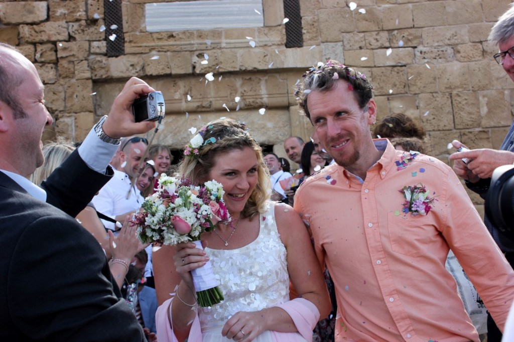 First wedding in Paphos Castle
