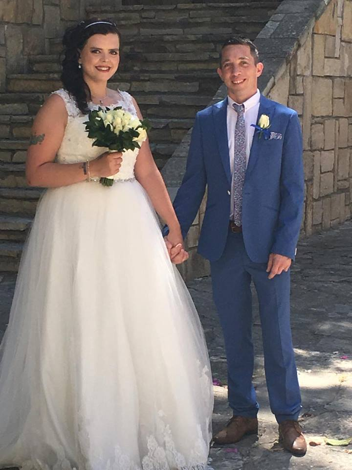 Chrissie & Jason just married June 2016